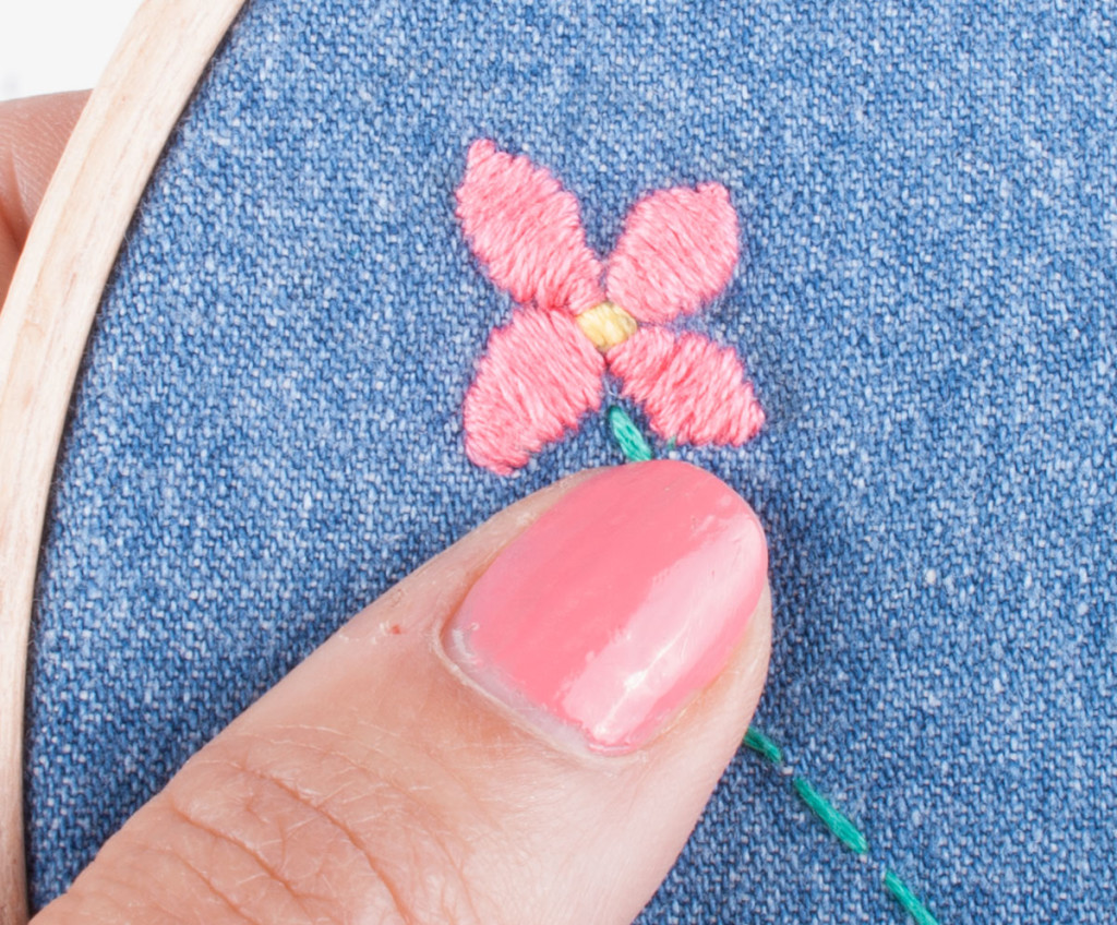 Hand Embroidery Satin Stitch 3
