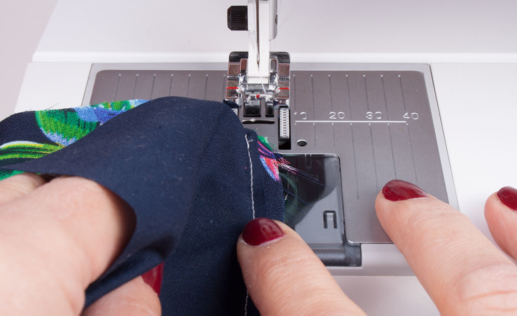 Positioning for Understitching
