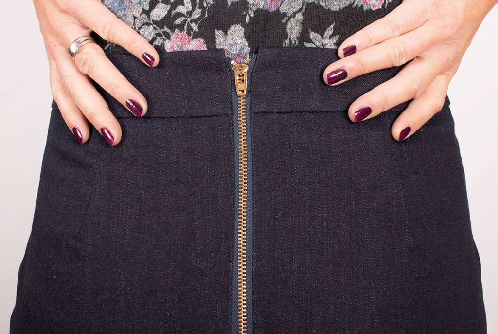 Sewing A Skirt With An Exposed Zip