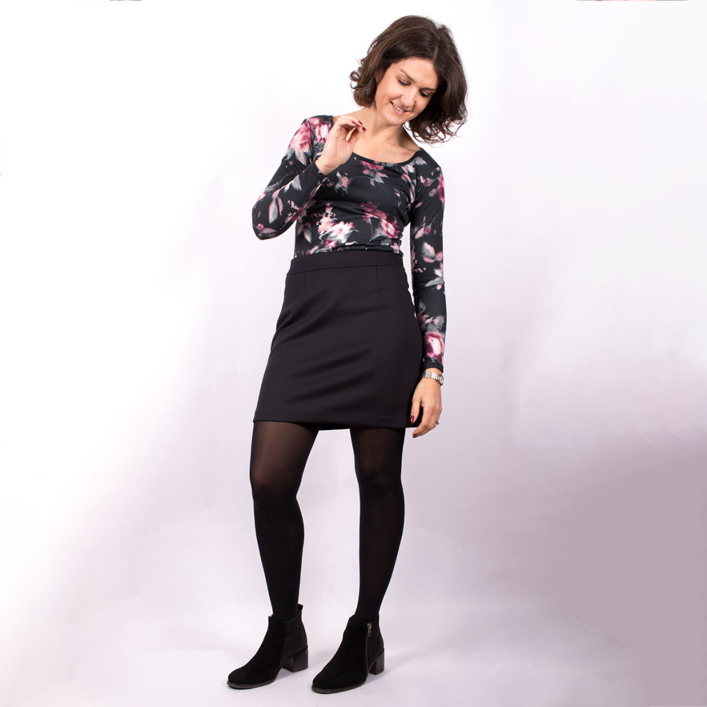 Abstract Floral Tilly and the Buttons Top