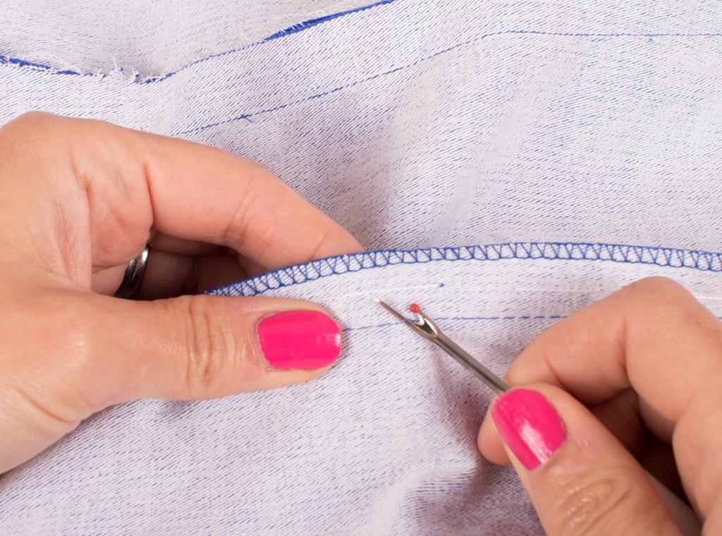 Unpick the Basting Stitches