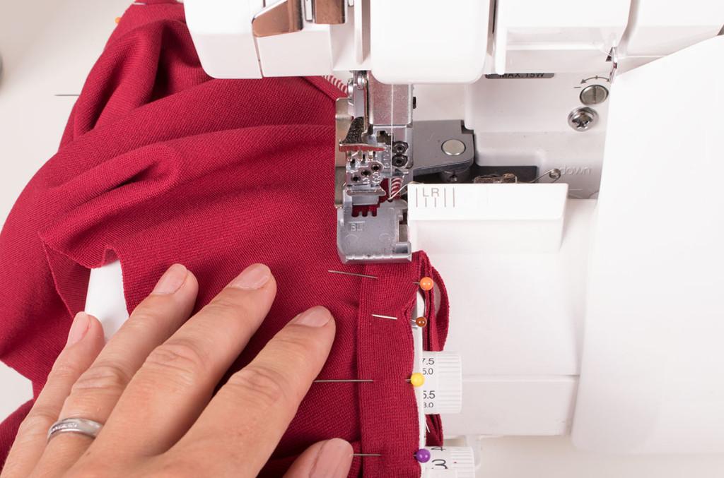 Overlocking or Serging a Jersey V Neck