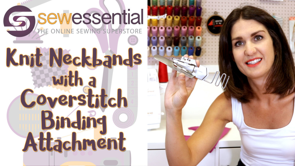 How to Sew Perfect Knit Neckbands with a Coverstitch Binding Attachment