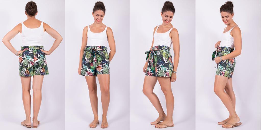 Sewing Paperbag Waist Shorts