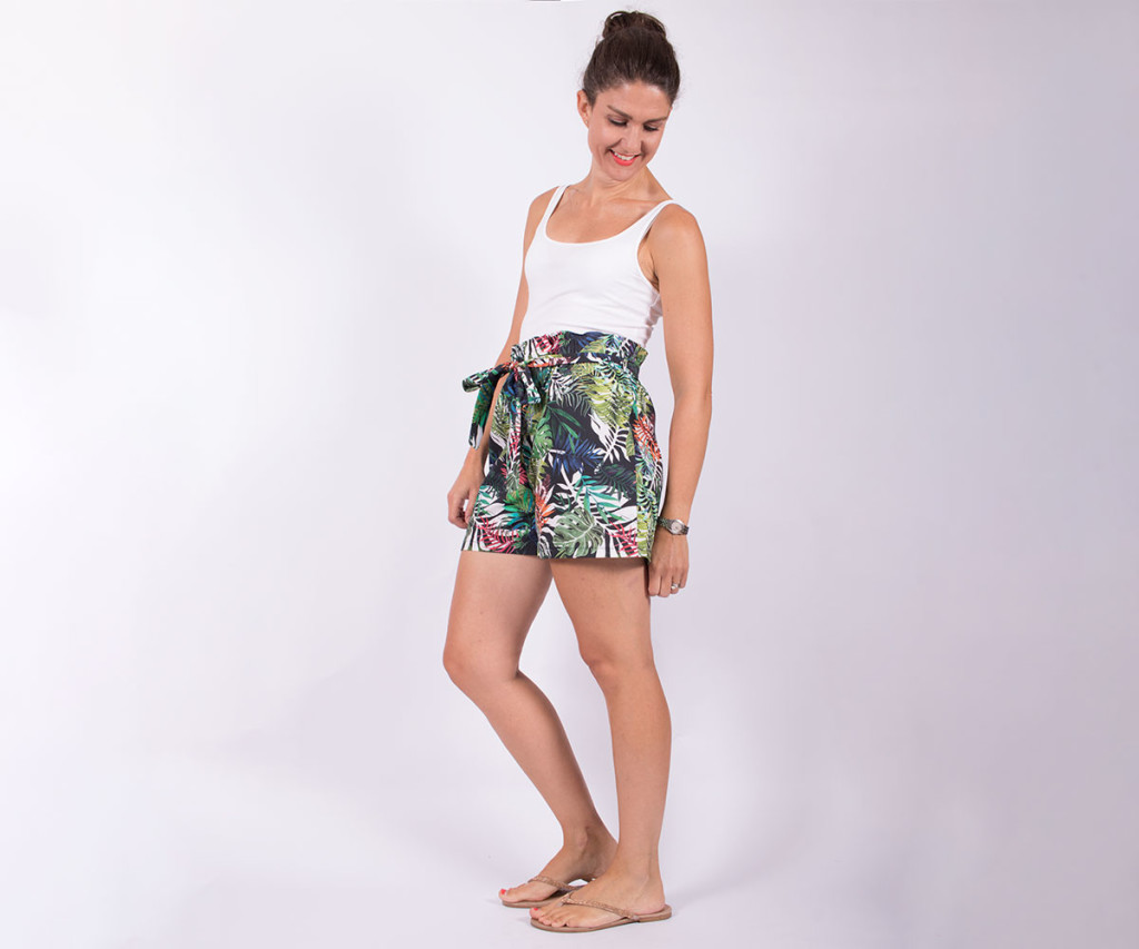 Sewing Paperbag Waist Shorts 3