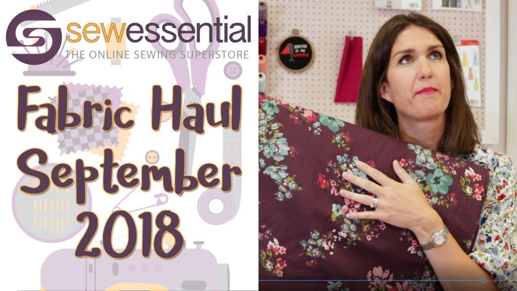 Fabric Haul September 2018