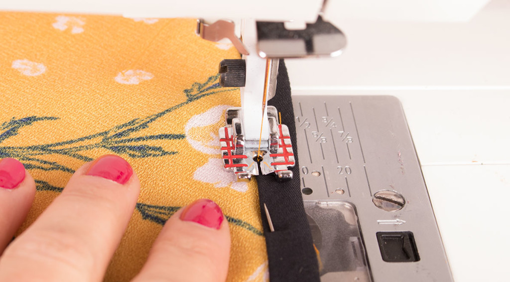 Sewing Necklines and Armholes with Ready Made Bias Binding