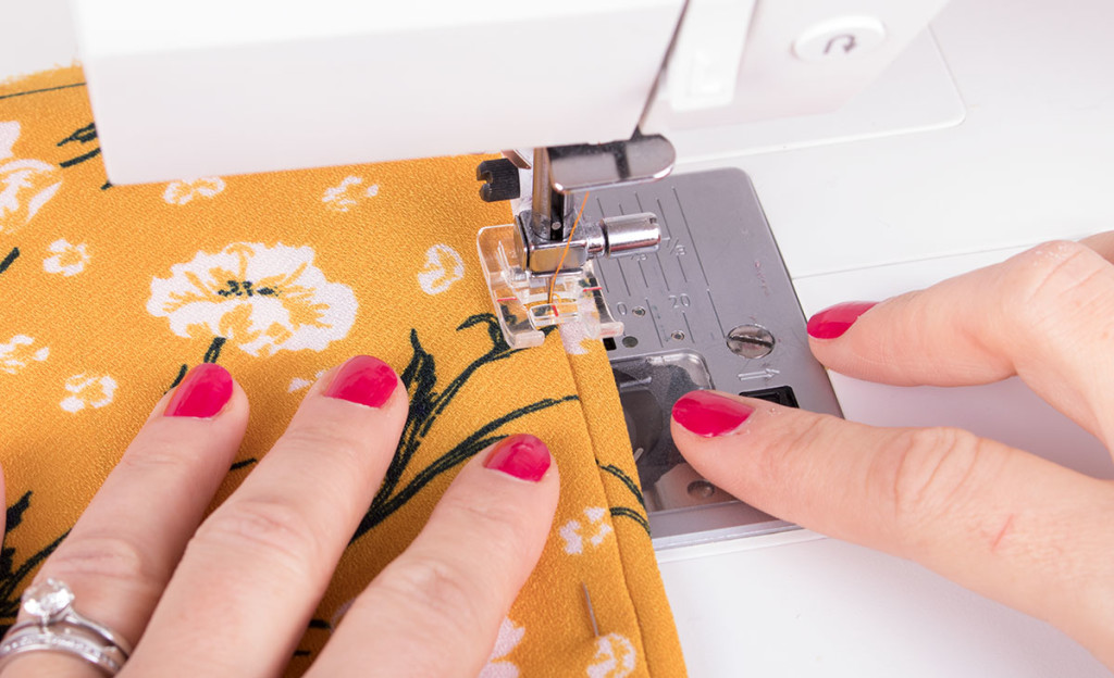 Stitching in the Ditch with Bias Binding
