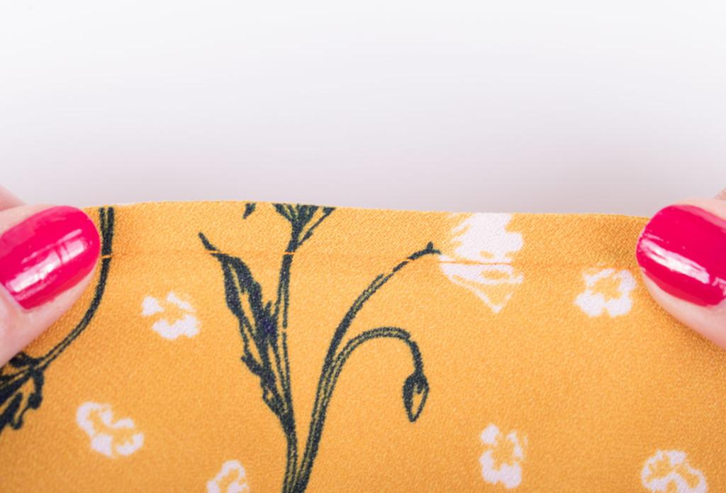 Top Stitched Overlocked Bias Binding