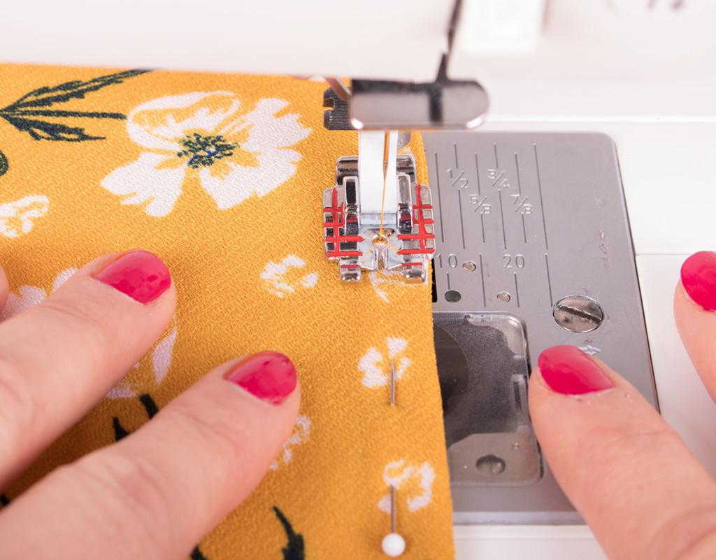 Top Stitching Bias Binding
