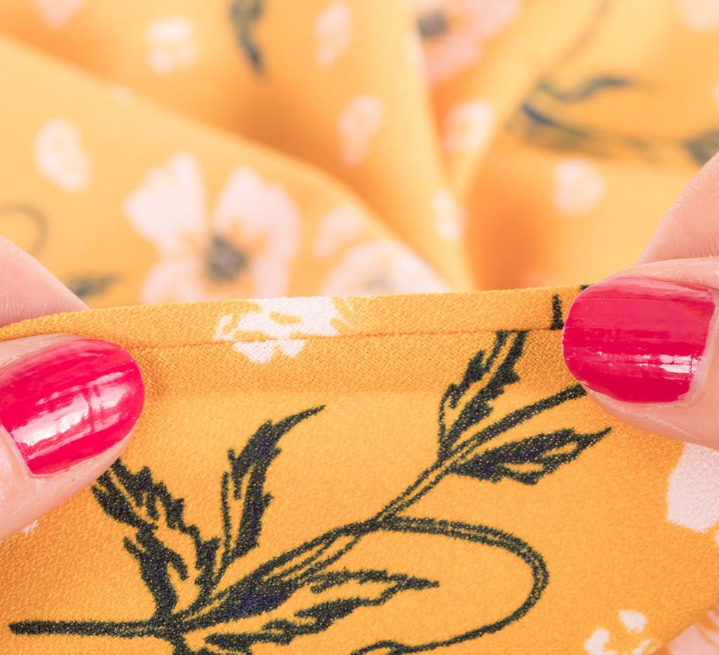 Visible Bias Binding Slip Stitched