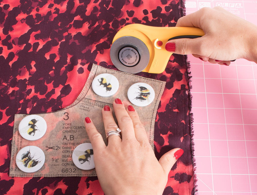 Using a Rotary Cutter on Slippery Fabrics
