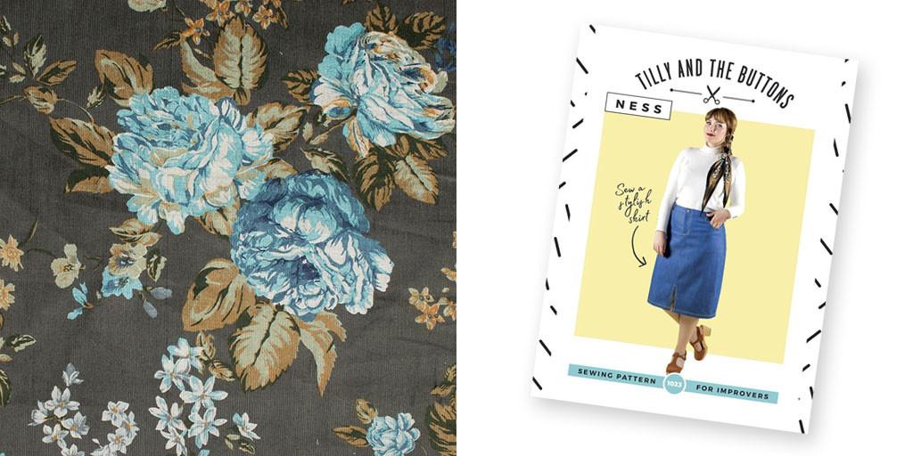 Ness Skirt and Needlecord Fabric