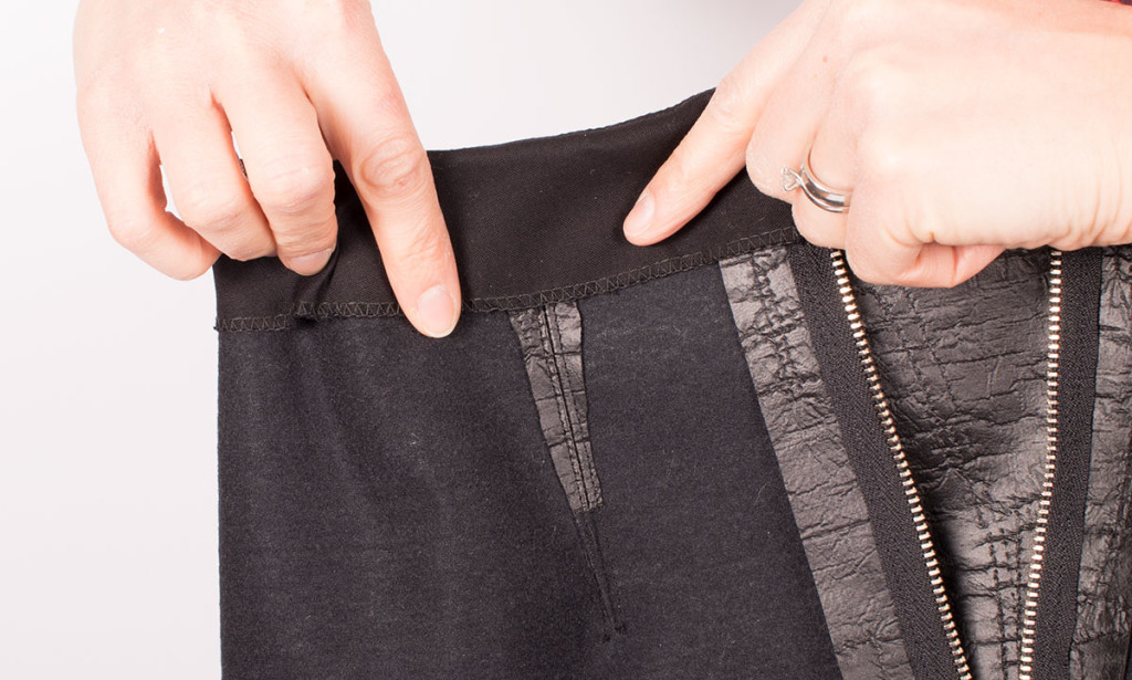 Gluing Seams in a Leather Look Skirt