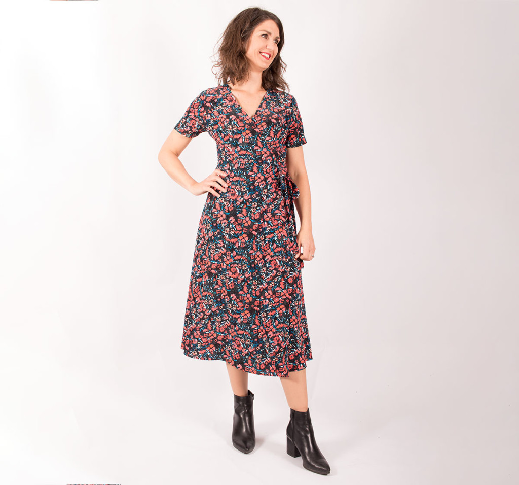 Sewing the Simplicity 8735 Wrap Dress