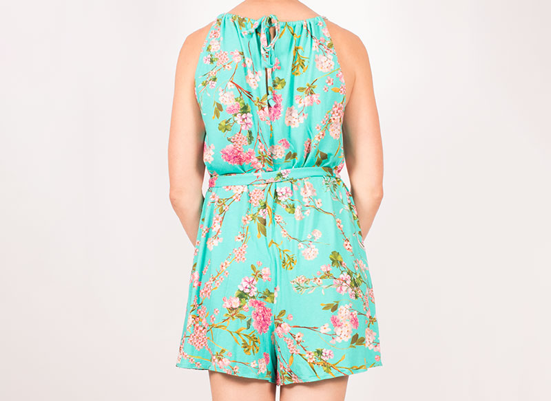 McCalls 7755 Jersey Playsuit Back View