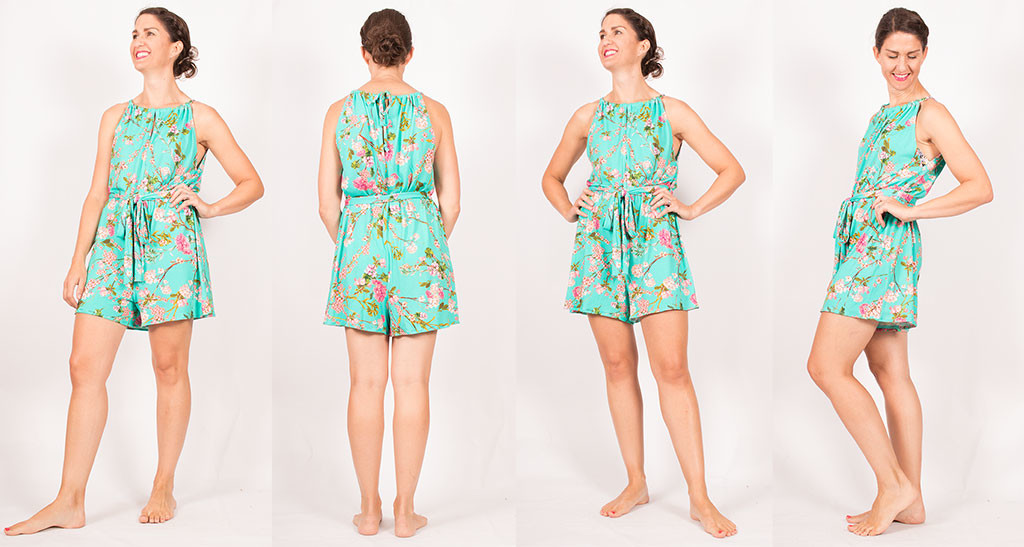 Sewing a Jersey Playsuit McCalls 7755