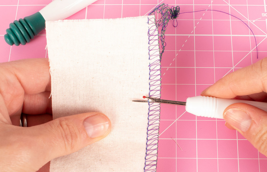 Unpicking a Three Thread Overlocker Stitch