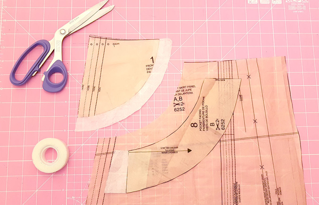 Creating a False Pocket Pattern Piece