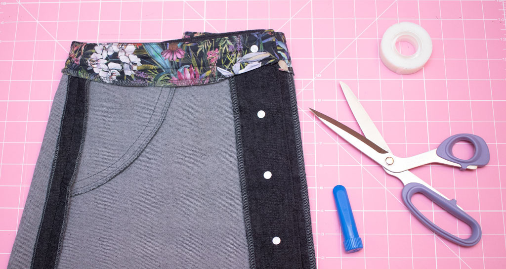 How to Sew a False Pocket on Jeans and Skirts