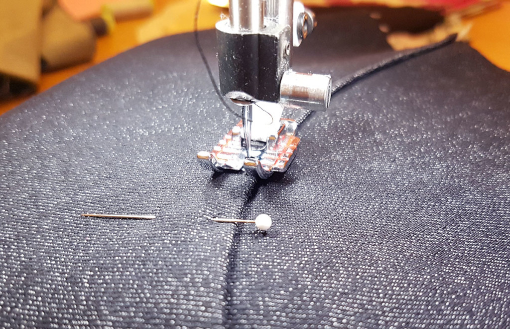 Top Stitching a False Pocket