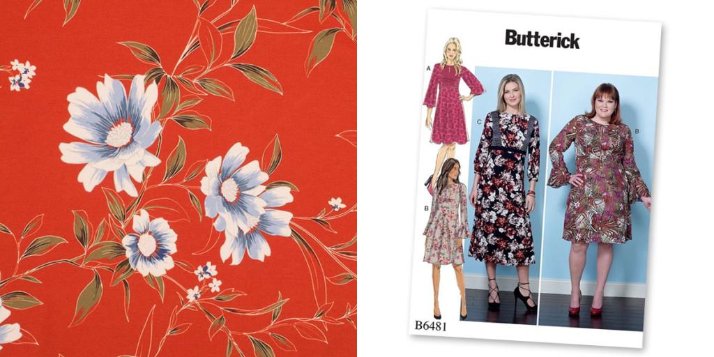 Butterick 6481 and John Kaldor Madrid fabric