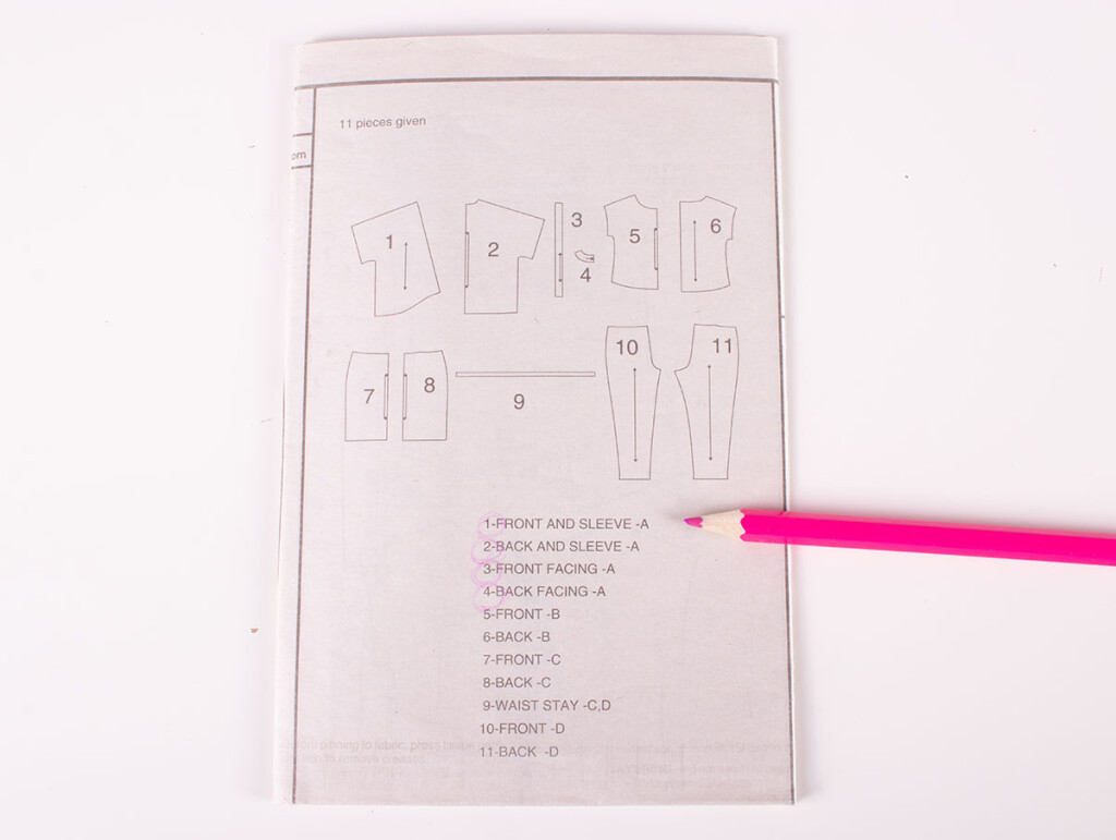 Sewing Pattern Instruction Booklet
