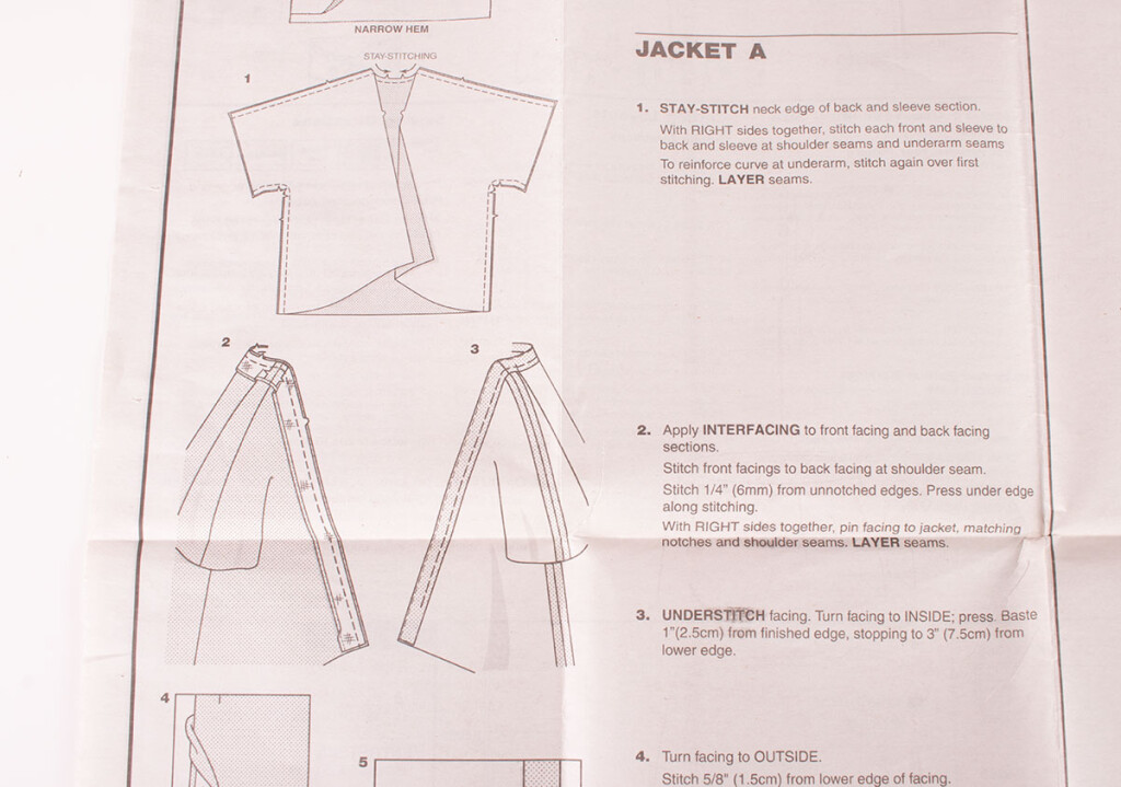 Sewing Pattern Step by Step Instructions