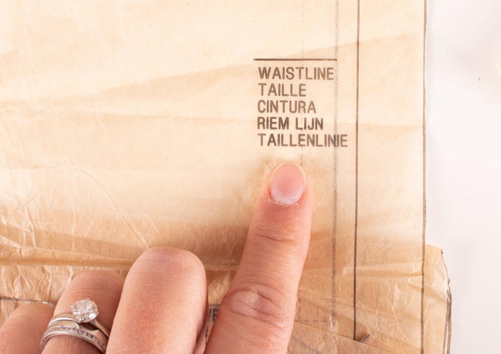 Sewing Pattern Waistline Marking