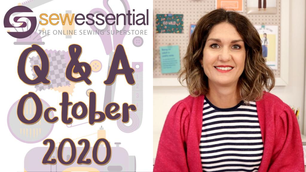 Sewing Q & A October 2020