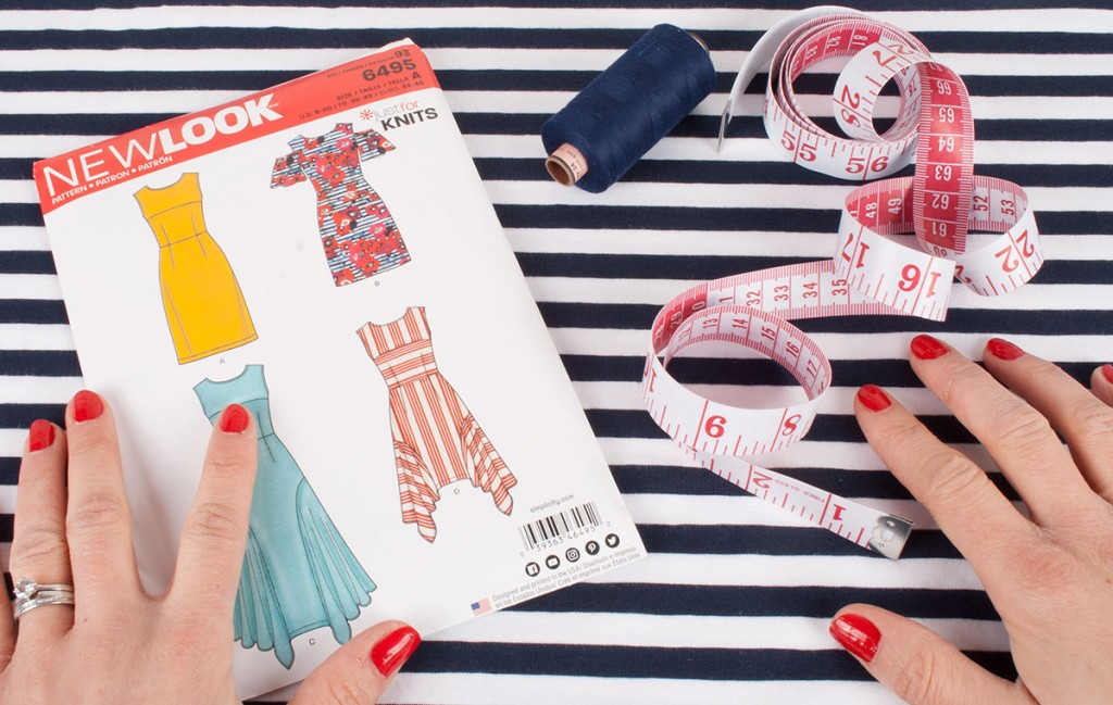 Sewing pattern, fabric and sewing supplies