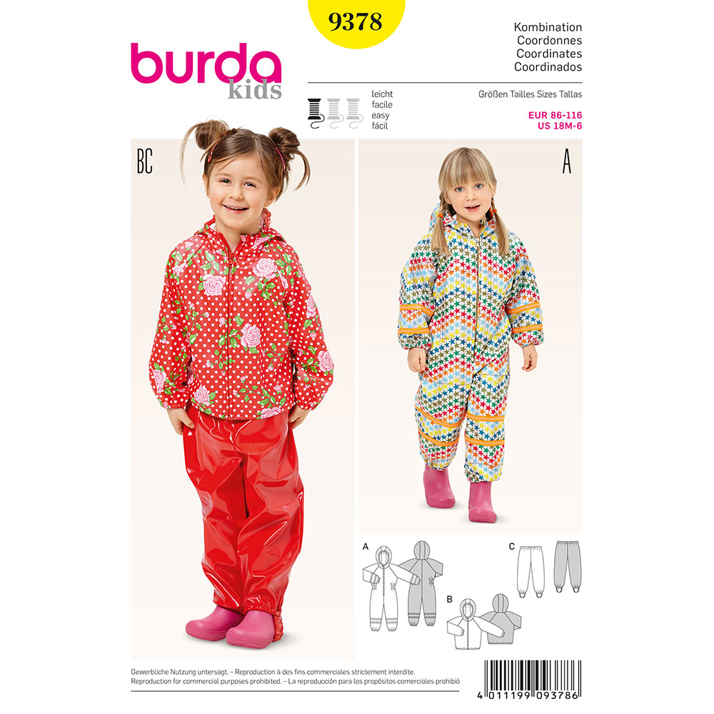 Burda 9378 sewing pattern