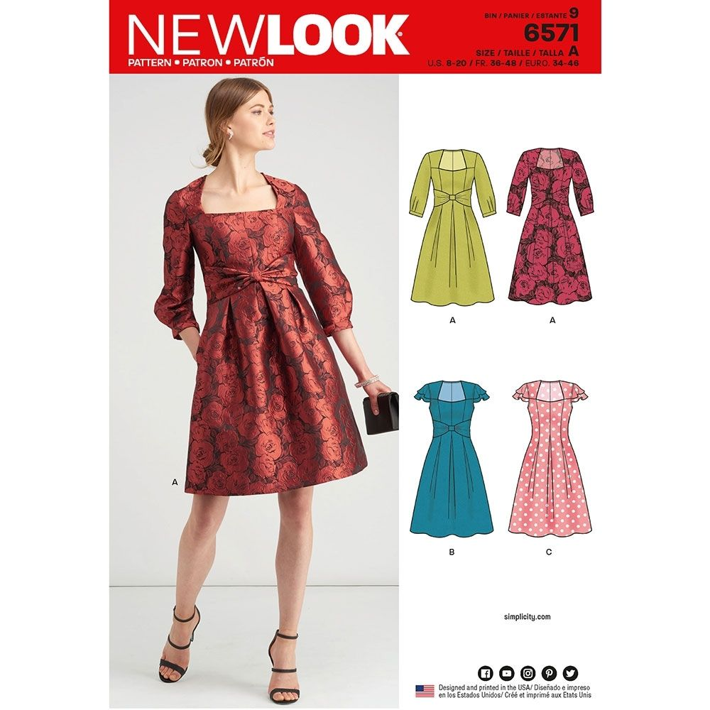 New Look party dress sewing pattern