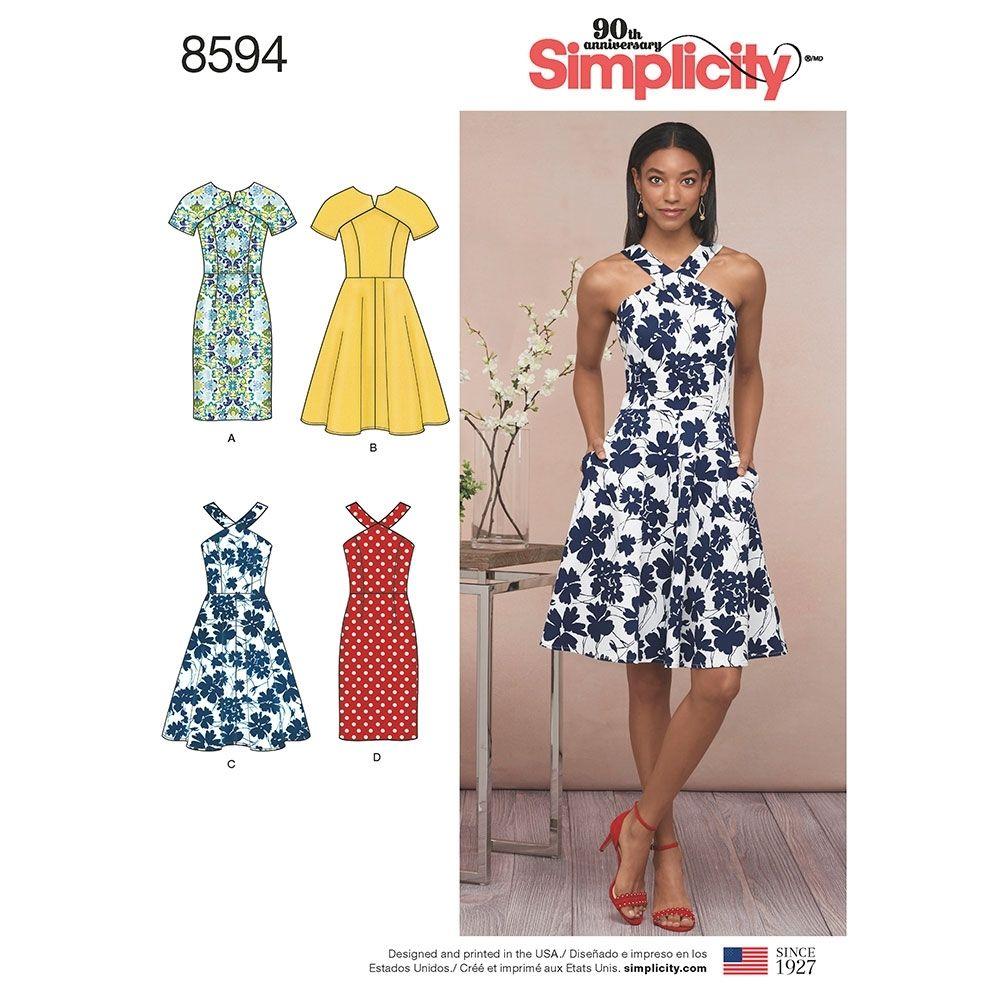 Simplicity 8594 dress sewing pattern