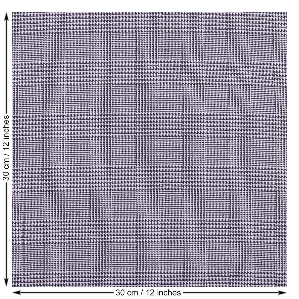 Prince of Wales check suiting fabric
