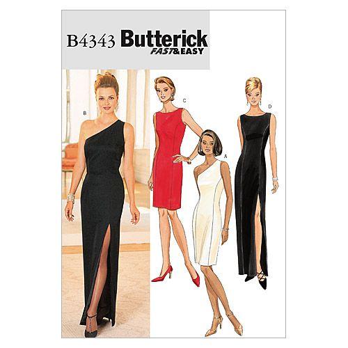 Butterick evening gown dress sewing pattern